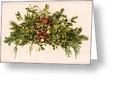 Vintage Floral Arrangement Greeting Card by Olivier Le Queinec