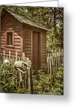 Vintage Garden Greeting Card by Margie Hurwich