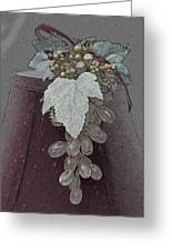 Vintage Glass Grapes Greeting Card by Sherry Hallemeier