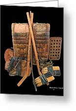 Vintage Hockey Equipment #2 Greeting Card by Spencer Hall