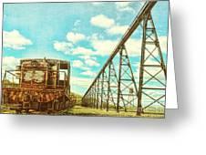 Vintage Industrial Postcard Greeting Card by Olivier Le Queinec