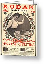 Vintage Kodak Christmas Card Greeting Card by Edward Fielding