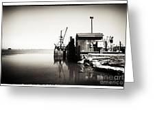 Vintage Lbi Bay Greeting Card by John Rizzuto