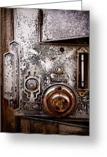 vintage-machinery photograph The Incubator Greeting Card by Ann Powell