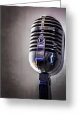 Vintage Microphone 2 Greeting Card by Scott Norris