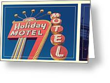 Vintage Neon Signs Trio Greeting Card by Edward Fielding
