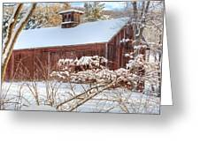 Vintage New England Barn Greeting Card by Bill Wakeley
