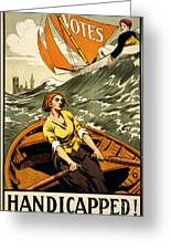 Vintage Nostalgic Poster - 8045 Greeting Card by Wingsdomain Art and Photography
