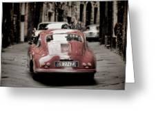 Vintage Porsche Greeting Card by Karen Lewis