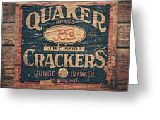 Vintage Quaker Crackers For The Kitchen Greeting Card by Lisa Russo