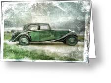 vintage rolls royce Greeting Card by David Ridley