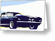 Vintage Shelby Gt500 Greeting Card by Bob Orsillo