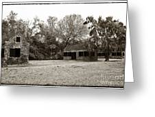 Vintage Slave Quarters Greeting Card by John Rizzuto