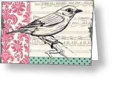 Vintage Songbird 1 Greeting Card by Debbie DeWitt