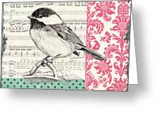 Vintage Songbird 3 Greeting Card by Debbie DeWitt