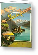 Vintage Tourism Poster 1890 Greeting Card by Mountain Dreams