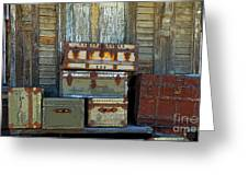 Vintage Trunks   Sold Greeting Card by Marcia Lee Jones