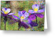 Violet Flowers Greeting Card by Toppart Sweden