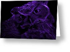 Violet Owl 4229 - F M Greeting Card by James Ahn
