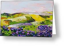 Violet Sunrise Greeting Card by Allan P Friedlander