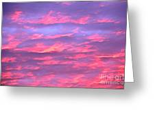 Violet Sunrise Greeting Card by Jay Nodianos