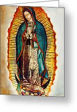 Virgen De Guadalupe Greeting Card by Bibi Romer