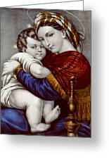 Virgin And Child Circa 1856 Greeting Card by Aged Pixel