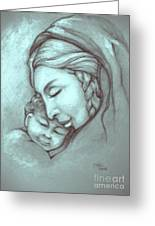Virgin And Child Greeting Card by Craig Green