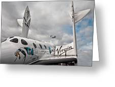 Virgin Galactic Vss Enterprise With Osprey Greeting Card by Shirley Mitchell