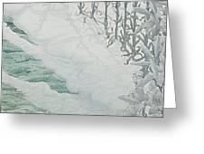 Virgin of the Lilies Greeting Card by Carlos Schwabe
