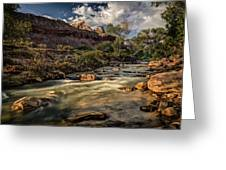 Virgin River Greeting Card by Jeff Burton