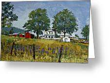 Virginia Highlands Farm Greeting Card by Peter Muzyka