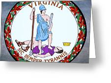 Virginia State Seal Greeting Card by Movie Poster Prints