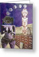 Virgo Greeting Card by Maria Jesus Hernandez
