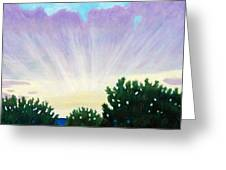 Visionary Sky Greeting Card by Brian  Commerford