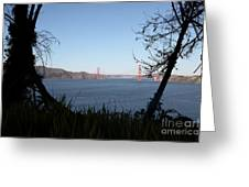 Vista To The San Francisco Golden Gate Bridge - 5d20983 Greeting Card by Wingsdomain Art and Photography