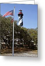 Viva Florida - The St Augustine Lighthouse Greeting Card by Christine Till