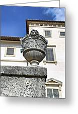 Vizcaya Museum Art Vase Greeting Card by Eyzen M Kim