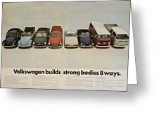 Volkswagen Body Facts Greeting Card by Nomad Art And  Design