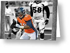 VON MILLER BRONCOS Greeting Card by Joe Hamilton