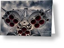 Vostok Rocket Engine Greeting Card by Stelios Kleanthous