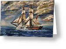 Voyage Of The Cloud Chaser Greeting Card by Isabella F Abbie Shores LstAngel Arts