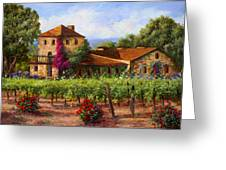 V.sattui  Winery Revisited  Greeting Card by Gail Salituri