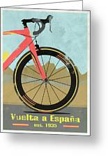 Vuelta A Espana Bike Greeting Card by Andy Scullion