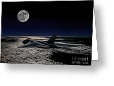 Vulcan At Night Greeting Card by Paul Heasman