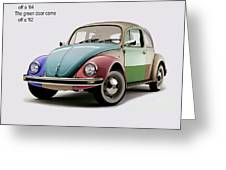 VW Parts Greeting Card by Mark Rogan