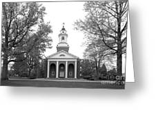 Wabash College Chapel Greeting Card by University Icons