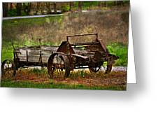 Wagon Greeting Card by Marty Koch
