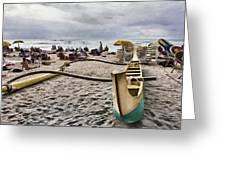 Waikiki Beach Hawaii Greeting Card by Douglas Barnard