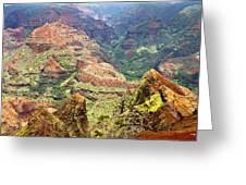 Waimea Canyon Greeting Card by Scott Pellegrin